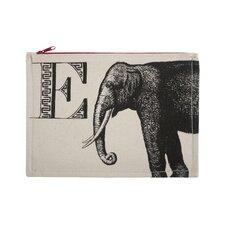 """Vintage Engravings Pictorial Alphabet """"E"""" Pouch"""