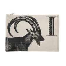 """Vintage Engravings Pictorial Alphabet """"I"""" Pouch"""