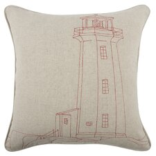 Lighthouse Embroidered Pillow