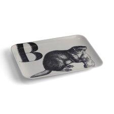 Alphabet B Beaver Serving Tray