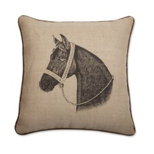 "Thoroughbred Horse 18"" x 18"" Pillow"