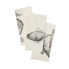 Bath Sea Life Hand Towel (Set of 3)