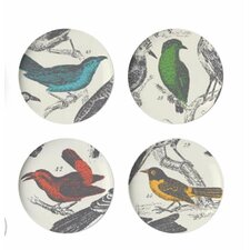 "Ornithology 9"" Dessert Plate (Set of 4)"