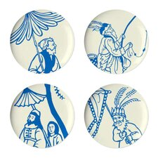 "Hong Kong 9"" Dessert Plates (Set of 4)"