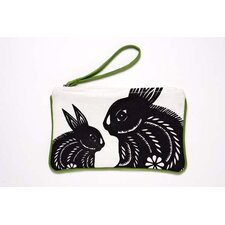 Bunnies Pouch in Black