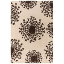 Tufted Pile Chocolate/Cream Seed Rug