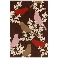 <strong>Thomas Paul</strong> Tufted Pile Chocolate/Persimmon Goldfinch Rug