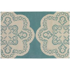 <strong>Thomas Paul</strong> Tufted Pile Aqua/Cream Doily Rug