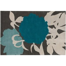 <strong>Thomas Paul</strong> Tufted Pile Blue/Gris Peony Rug