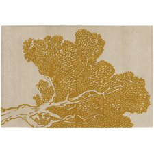 <strong>Thomas Paul</strong> Tufted Pile Yellow/Cream Tree Rug