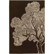 Tufted Pile Java/Cream Tree Rug