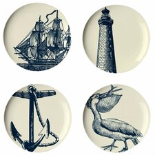 "Scrimshaw 9"" Dessert Plate (Set of 4)"