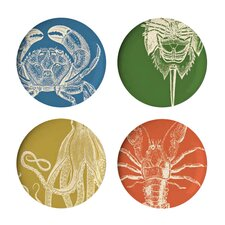 "Sea Life 11"" Dinner Plates (Set of 4)"