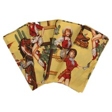 Western Lolitas Napkin with Hem (Set of 4)
