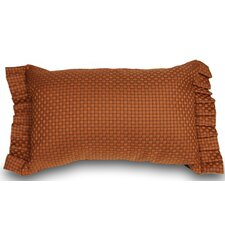 Basket Weaved Ruffled Accent Pillow