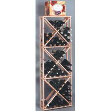 Country Pine Open 132 Bottle Wine Rack