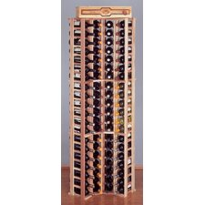 Country Pine Curve Corner 84 Bottle Wine Rack