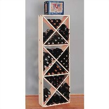 Country Pine Solid 132 Bottle Wine Rack
