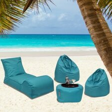 Summer Days 4 Piece Bean Bag Patio Set