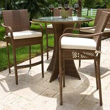 <strong>Hospitality Rattan</strong> Grenada Patio Barstool with Cushion