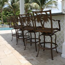 "<strong>Hospitality Rattan</strong> Coco Palm 30"" Barstool (Set of 4)"