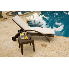 <strong>Hospitality Rattan</strong> Soho Patio Chaise Lounge and End Table Set