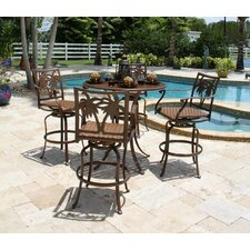<strong>Hospitality Rattan</strong> Coco Palm 5 Piece Bar Height Dining Set