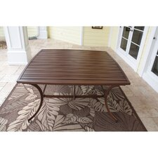 Outdoor Slatted Aluminum Square Dining Table