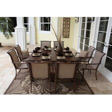 <strong>Hospitality Rattan</strong> Chub Cay Patio 9 Piece Dining Set