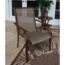 <strong>Hospitality Rattan</strong> Chub Cay Stacking Dining Arm Chair