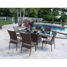 <strong>Hospitality Rattan</strong> Grenada Patio 7 Piece Dining Set