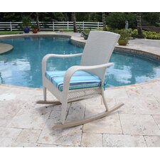 Grenada Patio Rocking Chair in White Wash