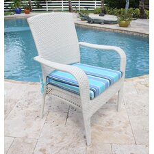 Grenada Patio Lounge Chair in White Wash