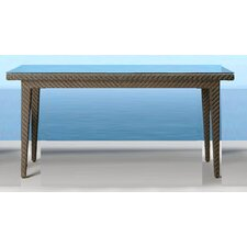 <strong>Hospitality Rattan</strong> Soho Patio Small Rectangular Woven Dining Table