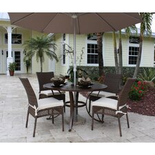 <strong>Hospitality Rattan</strong> Grenada Patio 5 Piece Slatted Dining Set