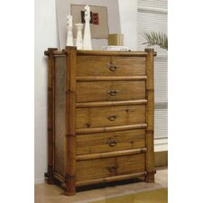 Hawaii Bamboo 5 Drawer Chest