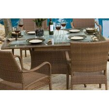 <strong>Hospitality Rattan</strong> Grenada Patio Rectangular Dining Table