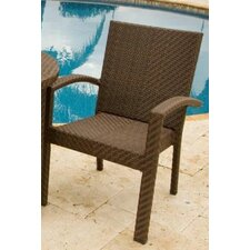 <strong>Hospitality Rattan</strong> Soho Patio Stackable Dining Arm Chair