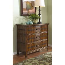 Polynesian Three Drawer Chest
