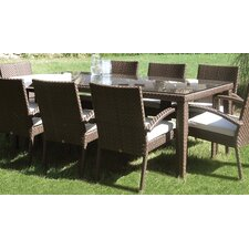 <strong>Hospitality Rattan</strong> Soho Patio Large Rectangular Dining Table