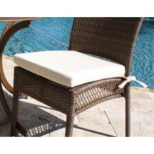 <strong>Hospitality Rattan</strong> Grenada Patio Dining Side Chair Cushion