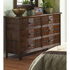 Polynesian 6 Drawer Dresser