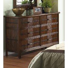 Polynesian 6 Drawer Dresser