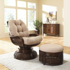 <strong>Hospitality Rattan</strong> Legacy Chair and Ottoman