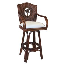 "<strong>Hospitality Rattan</strong> Lucaya 24"" Counter Stool with Cushion"
