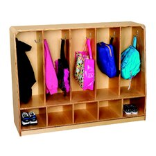 Toddler 5-Unit Bench Coat Locker