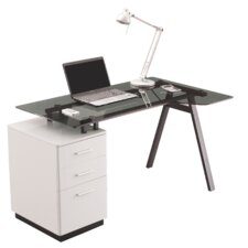 Design First 3 Drawer Writing Desk
