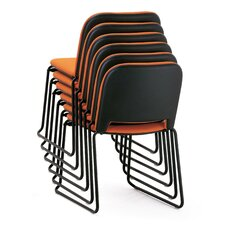 Lips Stacking Armless Chair with Ganging Device