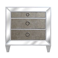 Monroe 3 Drawer Nightstand