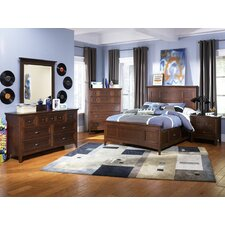 Riley Panel Bedroom Collection with Partial Storage
